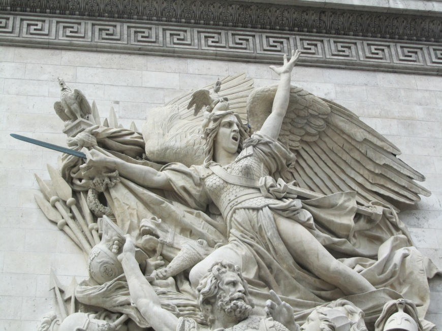 This was my favorite sculpture on the Arc de Triomphe.  What is that facial expression all about?