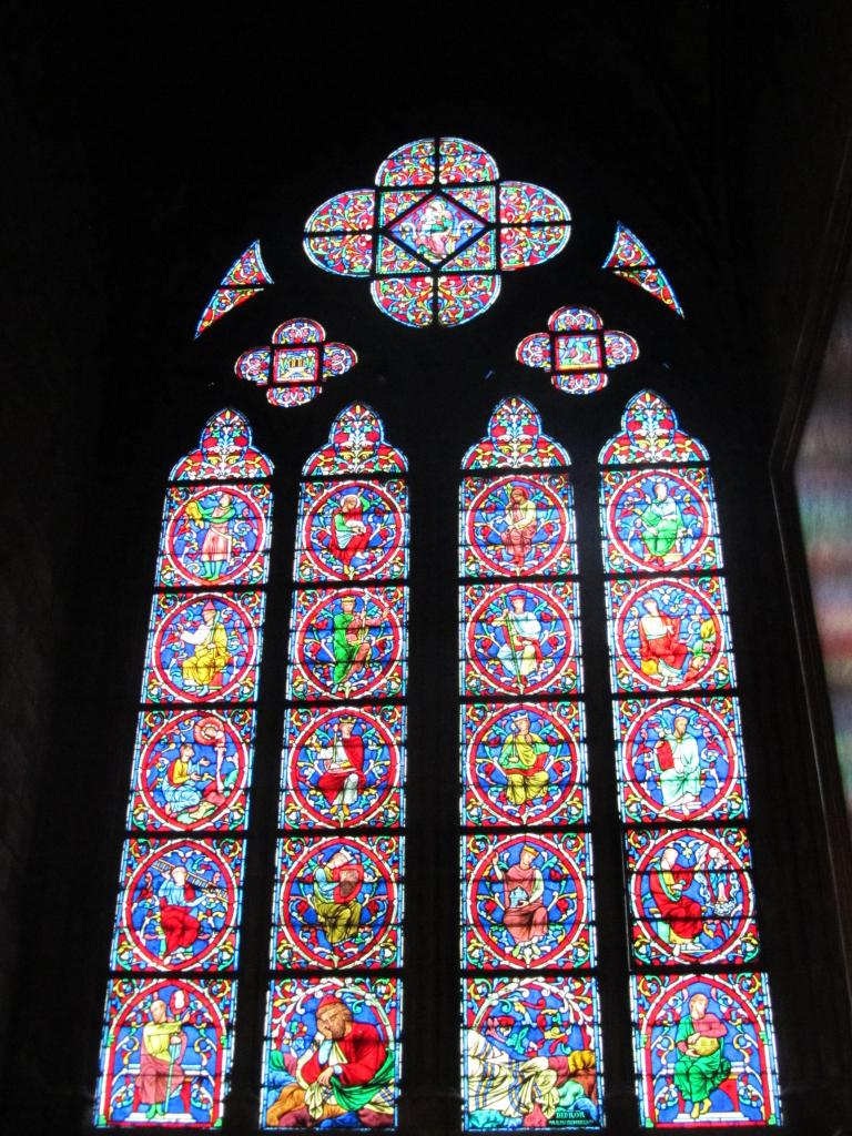 The stained glass was amazing!